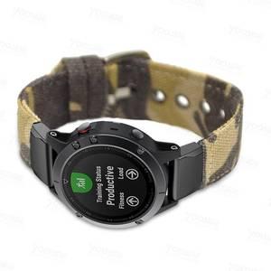 Image 3 - Fenix 6 22mm 26mm  Wristband Retro Nylon Nato Quick Fit Watch Band Strap for Garmin Fenix 5 Plus//935/Approach S60/Fenix 5X Plus