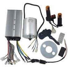 1セット電気モーター72 12v 3000ワット、ブラシレスモータコントローラ48v 72v 50A、逆ツイストスロットル、パワー点火ロックスクーターキット
