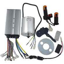 1Set Elektrische Motor 72V 3000W, Borstelloze Motor Controller 48V - 72V 50A, reverse Twist Throttle, Power Contactslot Scooter Kit