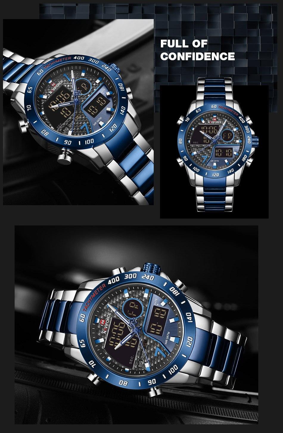 H3f4bcfebb8344b188ead32e6c22c4f4bg NAVIFORCE Men Digital Watch LED Sport Military Mens Quartz Wristwatch Male Luminous Waterproof Clock Watches Relogio Masculino