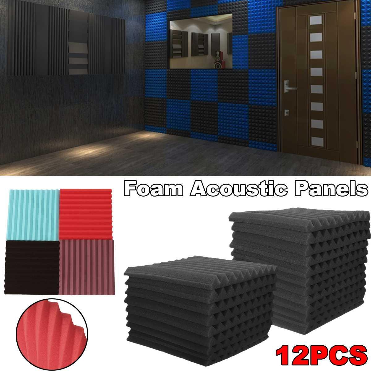 12PCS Soundproofing Foam Acoustic Foam Sound Treatment Room Studio KTV Windows Sealing Strips Absorption Foam
