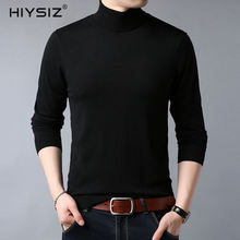 HIYSIZ Turtleneck Sweaters Male 2019 Long Sleeves Casual Autumn Winter Streetwear Solid Fashion Brand Style Wool Pullover SW031