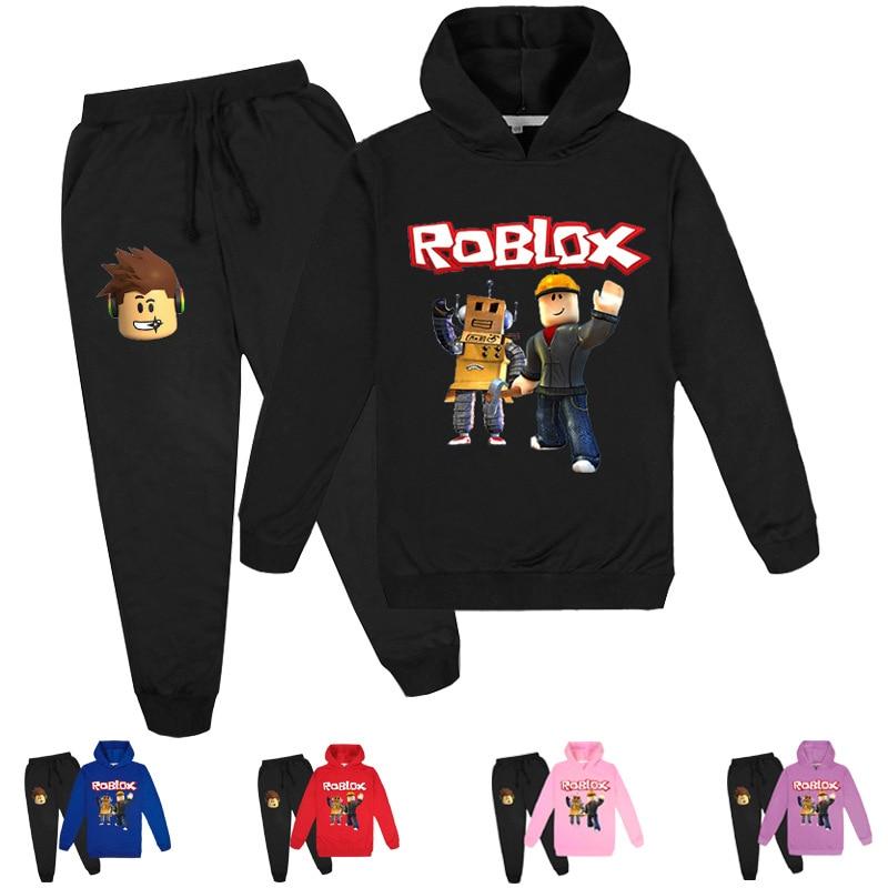 Vêtements pour enfants impression ensembles à capuche haut + pantalon 2 pièces costume garçons et filles dessin animé Sports de plein air costumes 3-16Y