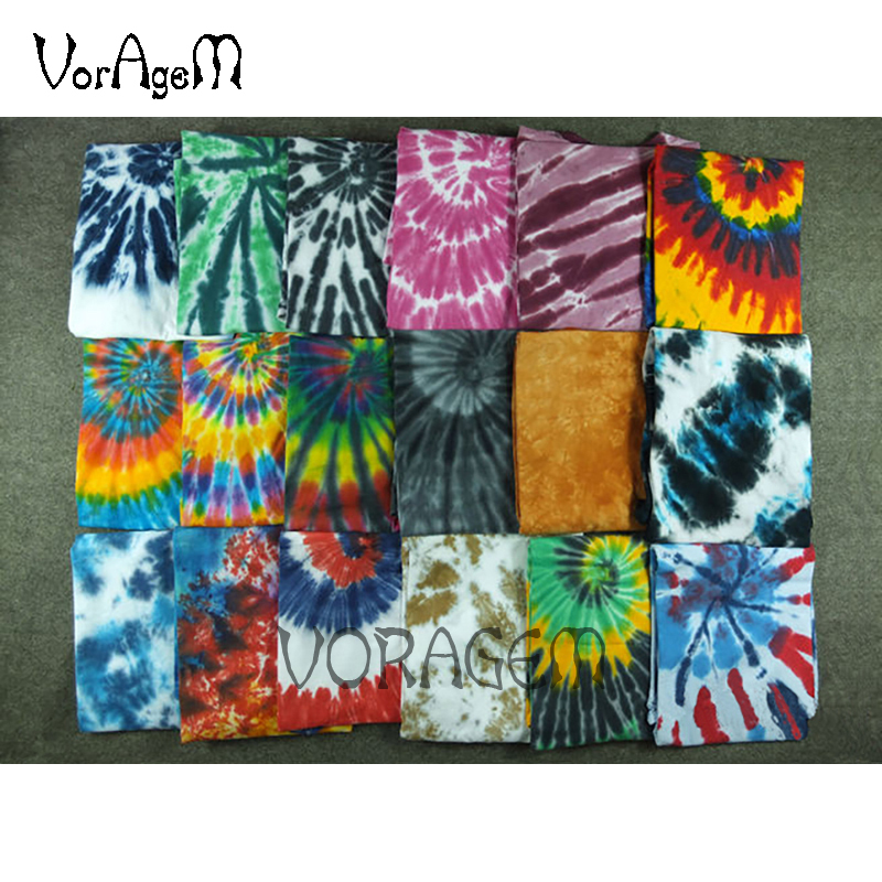 Men's Summer Handmade Tie Dye T Shirt Fashion Spiral Star Ray Colorful Tops  Hipster Skateboard Streetwear Male 100% Cotton Tees