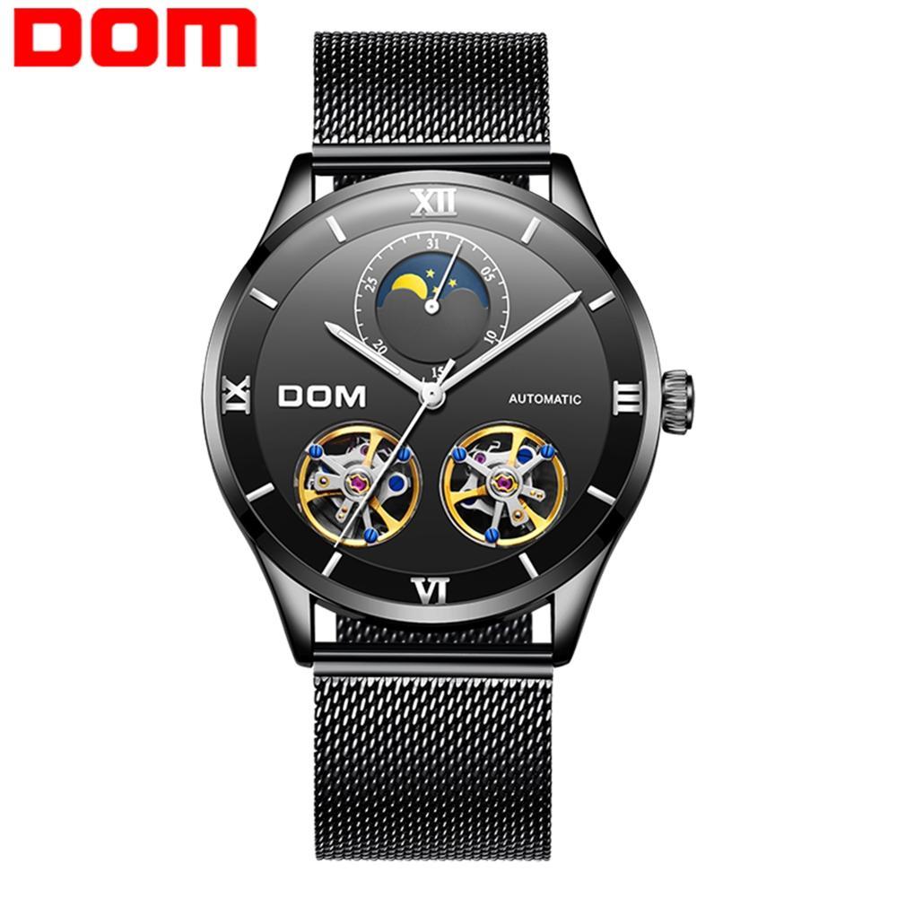 DOM Skeleton Men Watch 2019 New Sport Mechanical Watch Luxury Watch Mens Watches Top Brand  Men Automatic Watch M-1270BK-1M