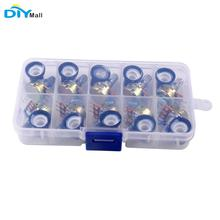 цена на 10Pcs 15mm Single Linear Potentiometer Shaft Kit with Nuts 10 Value B1K B2K B5K B10K B20K B50K B100K B250K B500K B1M DIYmall