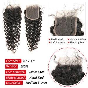 Image 5 - Глубокие кудрявые пряди волос с застежкой бразильские волосы волнистые 3 пряди человеческие волосы с застежкой Mihair Remy наращивание волос 1B #