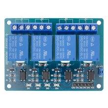 ¡10 Uds TENSTAR ROBOT 4 módulo de canal de relé 4 tarjeta de control de canales de relé con optoacoplador! Módulo de relé de salida de 4 vías