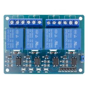 Image 1 - 10 adet TENSTAR ROBOT 4 kanal röle modülü 4 kanal röle kontrol panosu için optocoupler ile. Röle çıkışı 4 yönlü röle modülü