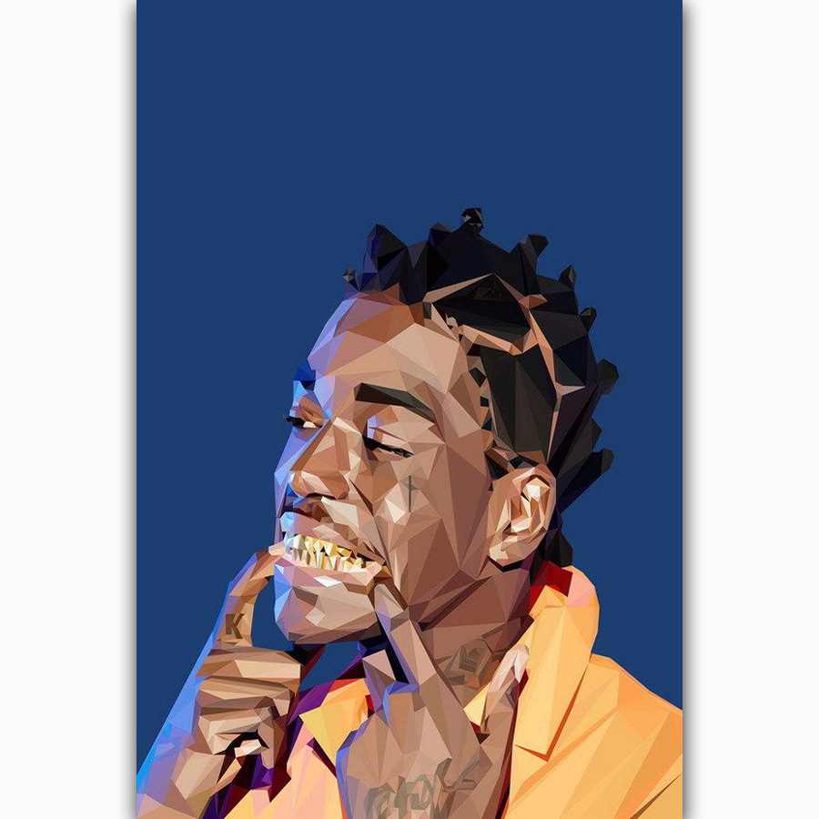 H-2187 Kodak Black Rap Music Singer Star Comic Wall Silk Poster