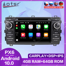 Dla Toyota Auris 2013 2014 2015 PX6 ekran dotykowy Radio samochodowe nawigacja GPS Android odtwarzacz multimedialny Audio Auto Stereo Carplay HD
