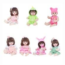 38cm Reborn Doll Lifelike Newborn Simulation Cute Baby Enamel Dolls Toy Simulation Baby Vinyl Soft Doll Toy