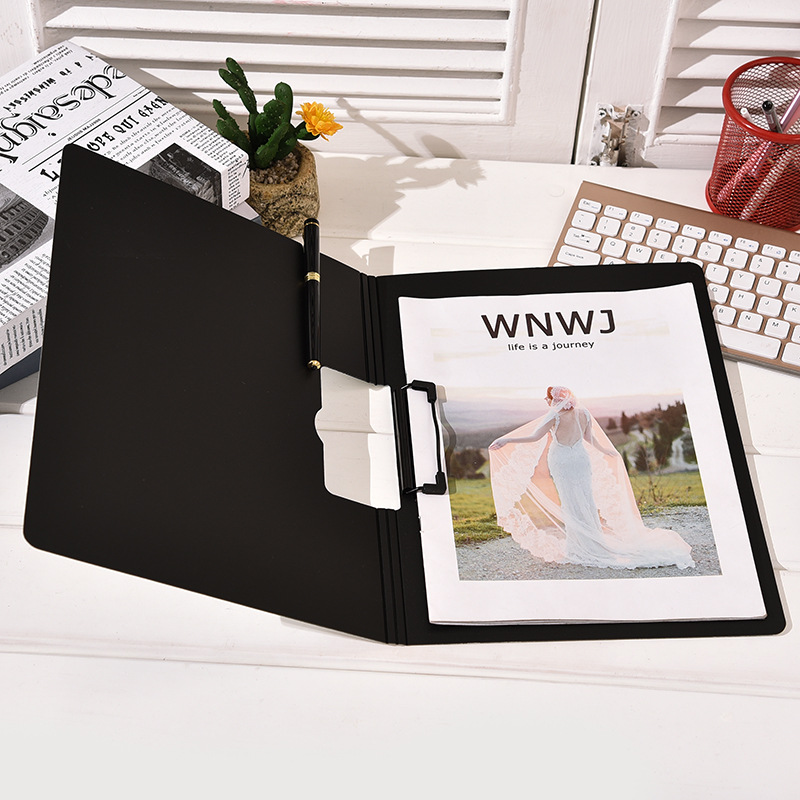 Simple Office Writing Board Clip Multi-function Folder Can Turn Pages Plastic Board Clip Office Data Folder Office Supplies
