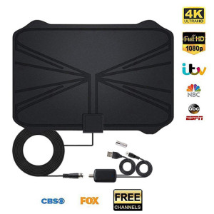 2020 NEW Indoor clear Digital HDTV Antenna TV Aerial 1180 Miles 4K 30DB Amplifier Booster DVB-T2 Signal receiver satellite dish