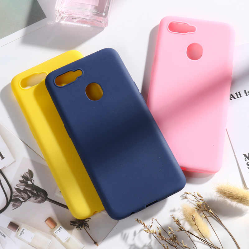 For OPPO AX7 Case 6.2'' Silicone Candy Color Soft Phone Case For OPPO A7 OPPOA7 CPH1901 Cases For OPPO A5S A7 A 7 ax7 a x7 Cover