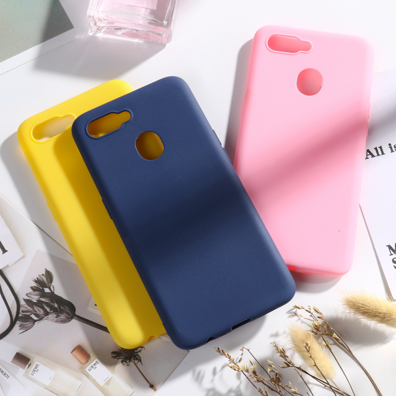 For OPPO AX7 A7 A5S Case 6.2'' Candy Color Soft Phone Case For OPPO A1K K3 Reno Z Ace Realme 5 3 Pro XT A5 A9 2020 Cover Fundas image