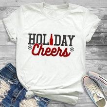 Женская Праздничная футболка с надписью в виде оленя и забавным