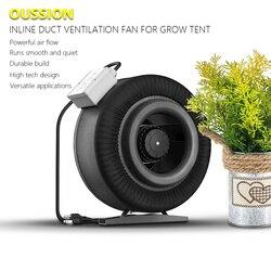 Ventilador de conducto en línea de 4 5 6 8 10 12,5 pulgadas, ventilador de extracción, ventilador de escape hidropónico para tienda de cultivo