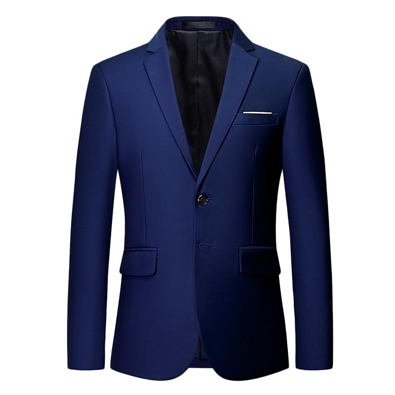 HCXY 2019 White Wedding Blazers Men Formal Dress Solid Color Mens Suit Jacket Slim Fit Business Mens Blazer