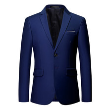 HCXY 2019 White Wedding blazers mannen Formele Jurk Effen kleur heren pak jas Slim Fit Business Heren Blazer(China)
