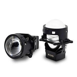 Image 3 - 3.0 cala 90W Bi obiektyw LED projektora wysoka i martwa wiązka reflektor samochodowy żarówka modernizacja modernizacja uniwersalne szybko zapalające się Car Styling