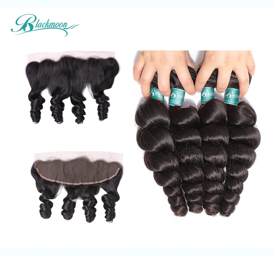 loose wave hair weave 3 4 bundles with 13 4 frontal