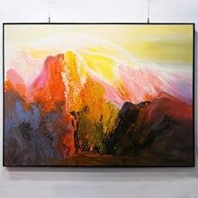 Картина маслом на холсте Ручная роспись пейзаж гостиная ручная