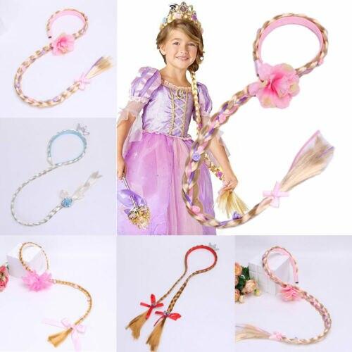 Blonde Cosplay Weaving Braid Tangled Rapunzel Princess Headband Hair Girl Wig