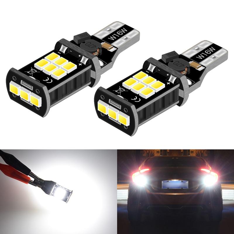 2x T15 W16W LED No Error Car Backup Reverse Light Bulb For BMW E60 E90 Ford Fusion Focus 2 3 Audi A3 A4 B6 B8 VW Passat B7 Lamp