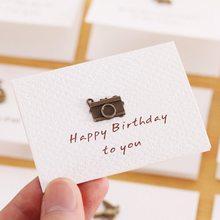 1 шт изготовленные на заказ поздравительные карты с конвертом