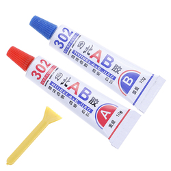Super AB Glue 302 Strong Cyanoacrylate Liquid Epoxy Resin Leather Rubber Epoxy Adhesive Metal Glass Wood Stationery Store Kit UV