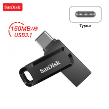 100% Original SanDisk DC3 USB Type-C 32GB 64GB OTG ไดรฟ์ MINI U Disk หน่วยความจำ USB stick 128GB SDDDC3 USB 3.1 Pendrive(China)