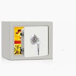 Oro seguridad hogar seguro hogar caja de seguridad de acero pequeña pared mini caja fuerte mecánica de oficina caja de efectivo Caja con cerradura caja de hierro