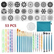 Tools-Set Dotting-Tools Mandala for Coloring Drawing Stencil-Ball Pen Stylus Paint-Tray