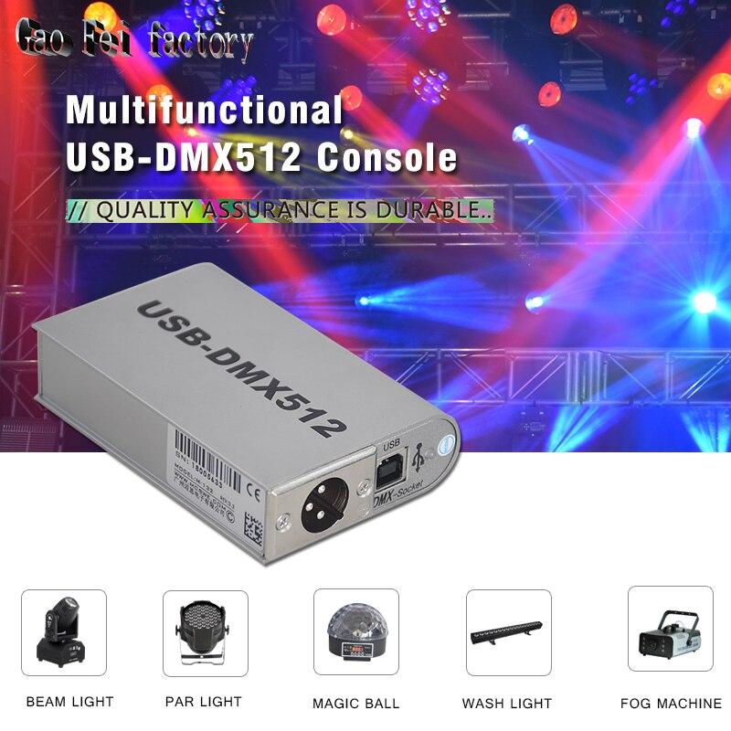 Işıklar ve Aydınlatma'ten Sahne Aydınlatması Efekti'de DMX Yazılımı sahne ışık kontrolörü hareketli aydınlatma konsolu Disko DJ Sahne Işık USB Aydınlatma Arayüzü title=