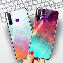 Tempered Glass Case For OPPO Realme 5 Pro Q XT Reno 2 2Z A9 2020 A11X Cases Star Space Silicone Cover For Vivo Z5X Z1 Pro Nex 3 talberg space pro 2