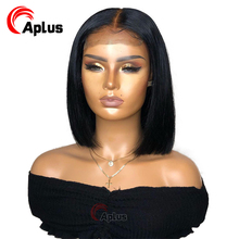 Bob lace front wigs preplucked 13x6 straight bob frontal human hair wig