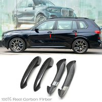 For BMW X7 G07 M50i xDrive40i xDrive50i 2018 2019 2020 High Quality Carbon Fiber Door Handle protection cover Trims Fits