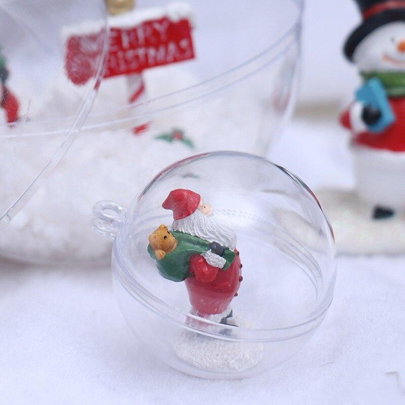 Adornos de bola de Navidad transparentes de 10 piezas adornos de plástico rellenos decoración de fiesta de boda DIY para el hogar - 4