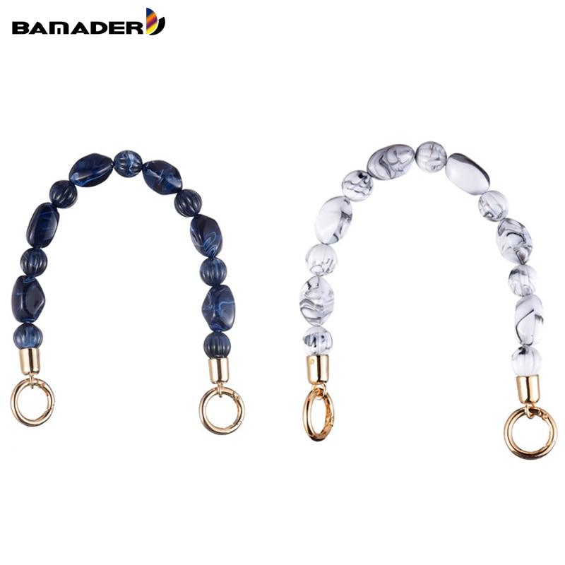 BAMADER Short High Quality Acrylic Shoulder Strap Bead Bag Handle 36CM Fashion Women Bag Strap Resin Hand Strap Bag Accessories