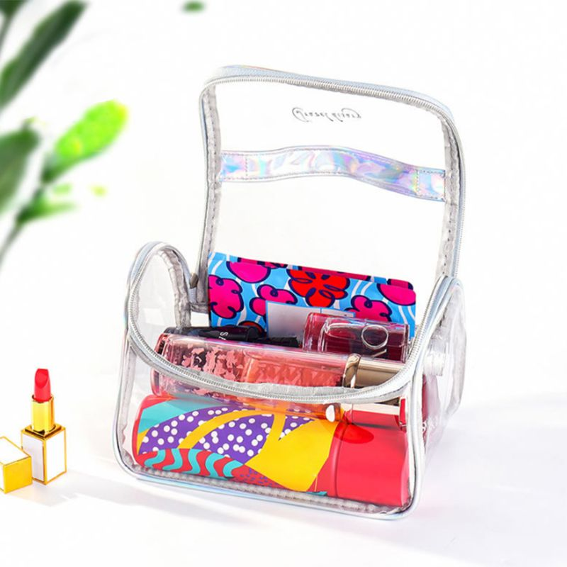 Transparent Travel Cosmetic Bag Makeup Case Pouch Toiletry Zip Wash Toiletry Organizer in Cosmetic Bags Cases from Luggage Bags
