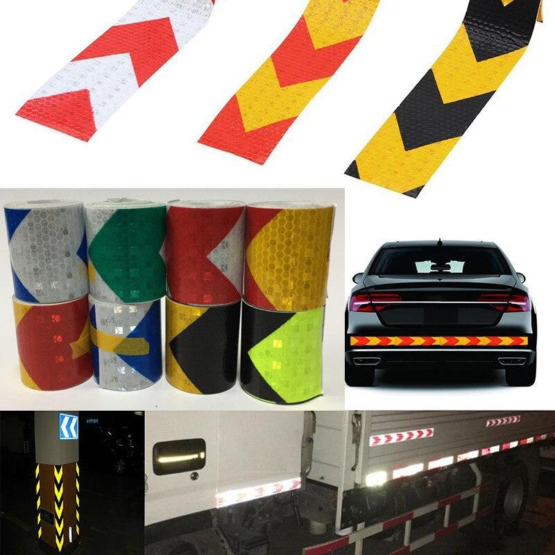 5 см * 300cm стрелка светоотражающая лента безопасности Предостережение Предупреждение Светоотражающая клейкая лента Стикеры для грузовика