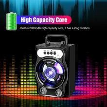 Altavoz Portátil con Bluetooth, Subwoofer estéreo inalámbrico de gran potencia, graves pesados, caja de sonido para parlantes, compatible con Radio FM, TF, AUX, USB