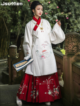 Women Chinese Traditional Hanfu Costume Lady Ming Dynasty Pricess Cloth Female Stage Cosplay Performance Ancient Folk Dance Wear new arrival film performance wear blue embroidered dragon brocade the qing dynasty prince clothes chinese ancient costume male