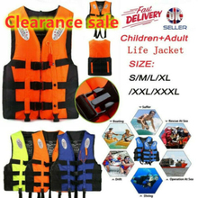 Universal Outdoor Swimming Boating Skiing Driving Vest Survival Suit Life Vest for Adult Children with Pipe S -XXXL Water Sports