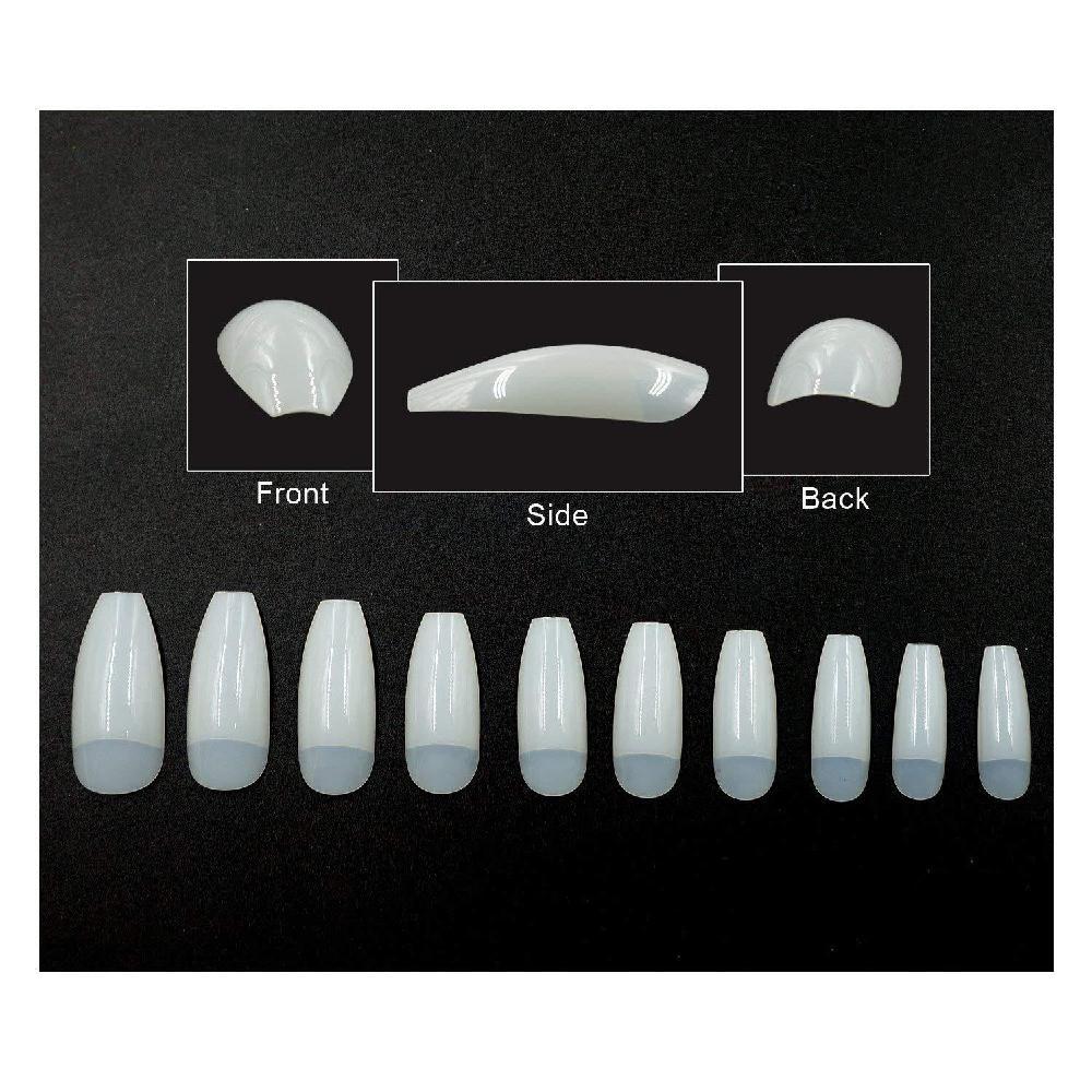 MeterMall 500 Pcs Acrylic French False Nail UV Gel DIY Nail Tips Ballet Nail piece Half sticker Nail Accessories Tools in False Nails from Beauty Health