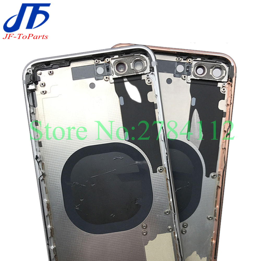 10 sztuk zamiennik dla iphone X 8 Plus 8 P XR XS MAX 8G powrót bliski rama obudowa pełna obudowa montaż szkło pokrywa baterii drzwi