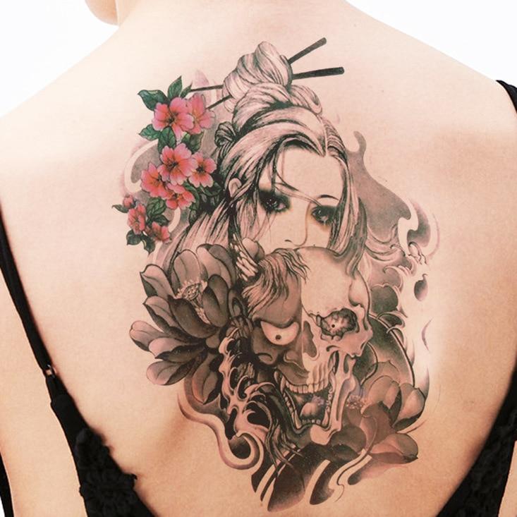 150x210mm Arm Temporary Tattoo Sticker Bow Tie Men And Women Flower Arm Tattoo Sticker  Fake Tattoo Tatoo Tatto Tato Henna