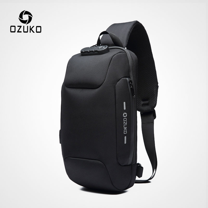 741b7f2673b6 US $19.14 50% OFF|OZUKO 2019 New Multifunction Crossbody Bag for Men Anti  theft Shoulder Messenger Bags Male Waterproof Short Trip Chest Bag Pack-in  ...