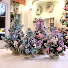 Best Choice Artificial Christmas Pine Tree Holiday Decoration For Christmas Parties Mall Window Snow Fir Decor(China)